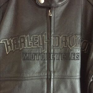 Leather Harley jacket